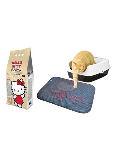 Hello Kitty HELLO KITTY 10L NATUREL DOĞAL KOKUSUZ BENTONİT KEDİ KUMU VE PASPAS Renkli
